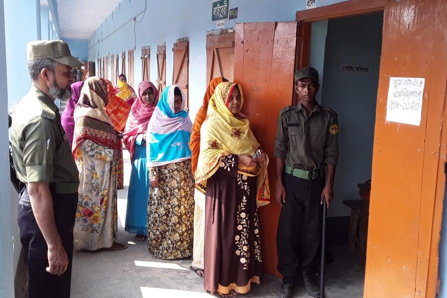 UZ polls in C'nawabganj: Voting underway