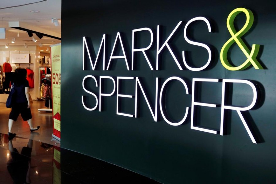 FILE PHOTO: A view of a Marks and Spencer shop in Singapore December 14, 2018. REUTERS/Edgar Su