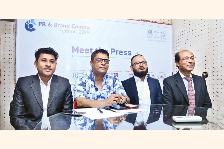 (From left)  Zillur Rahman, head of Project  and Programme of Dream Deviser, Shahidul Islam Shakhor, managing director of Rapid PR, Syed Rabius Shams, summit coordinator and CEO of Ra'dia Inc. and Nazmul Ahsan, CEO of ShobdoKolpoDrum