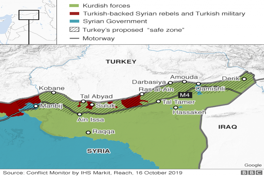 Turkish assault on northern Syria and adjoining territories