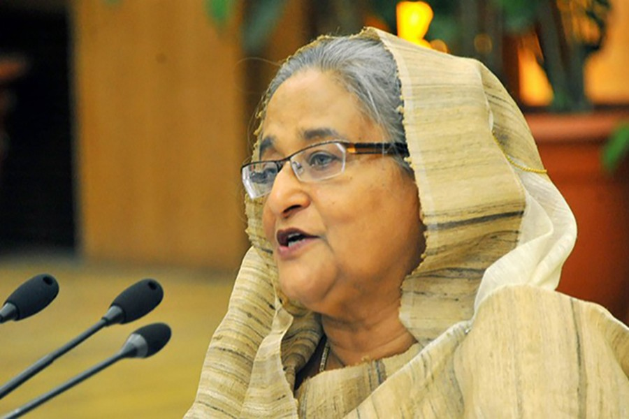 Prime Minister Sheikh Hasina seen in this undated UNB photo