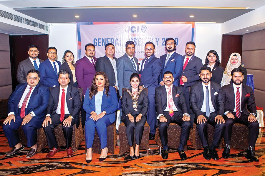 Leaders of JCI Bangladesh board 2020 pose for a photo