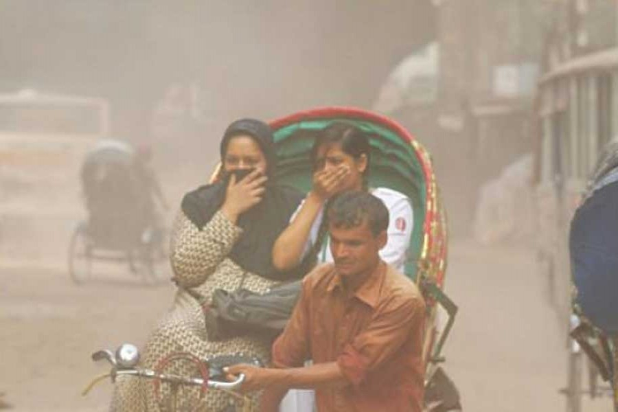 Dhaka's air quality
