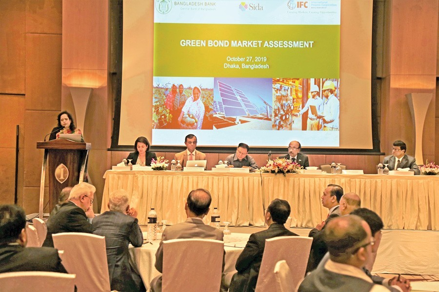 International Finance Corporation (IFC) arranged a seminar on a joint study to promote the domestic green bond market in Bangladesh as a way to mobilise capital for climate-related initiatives on Sunday in the city. Nuzhat Anwar, IFC Senior Country Officer in Bangladesh addressed the event, attended by senior officials of BSEC and BB.