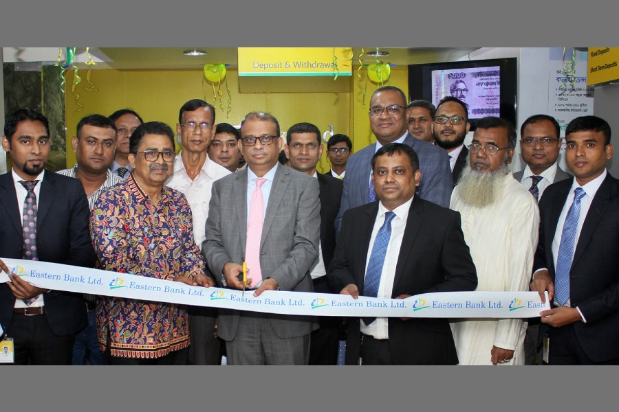 EBL opens its first banking booth at Kanchpur