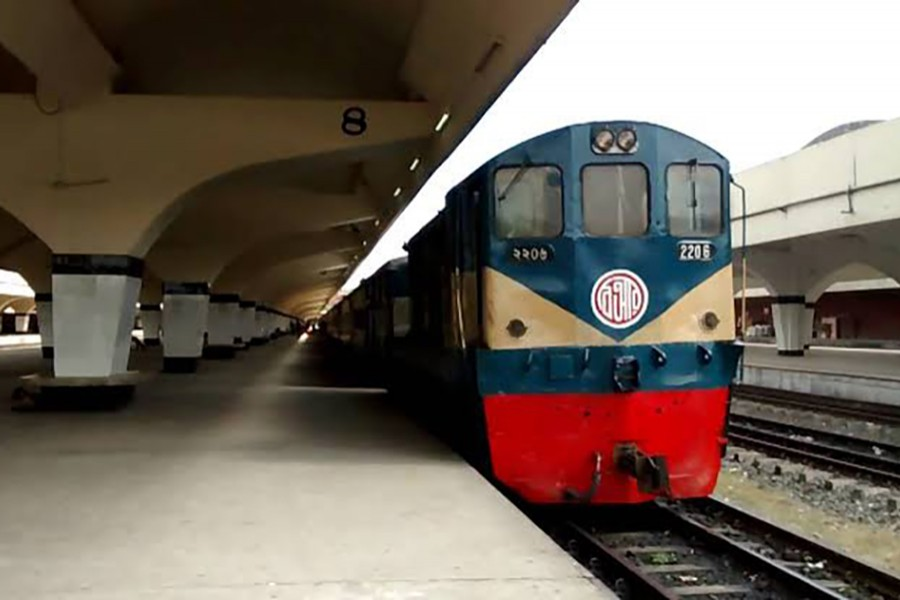 A screen grab taken from a YouTube video shows a partial view of Kamalapur Railway Station in Dhaka