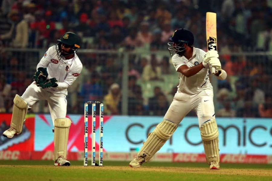 Despicable batting display by BD puts India on top