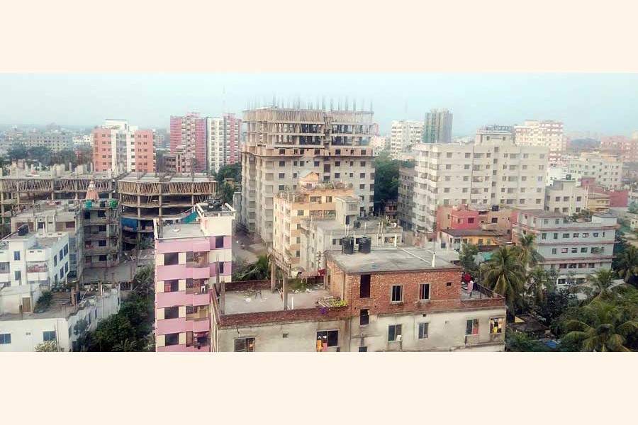 A partial view of the Cumilla city— FE Photo
