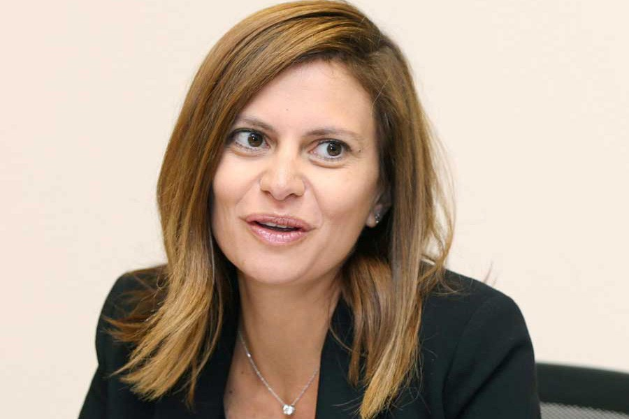 A file photo showing Lebanese Minister of Energy and Water, Nada Boustani Khoury at her office in Beirut, Lebanon  	— Reuters