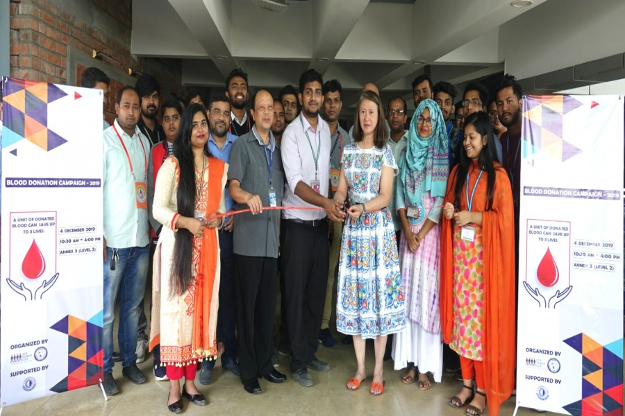 Blood donation campaign held at AIUB