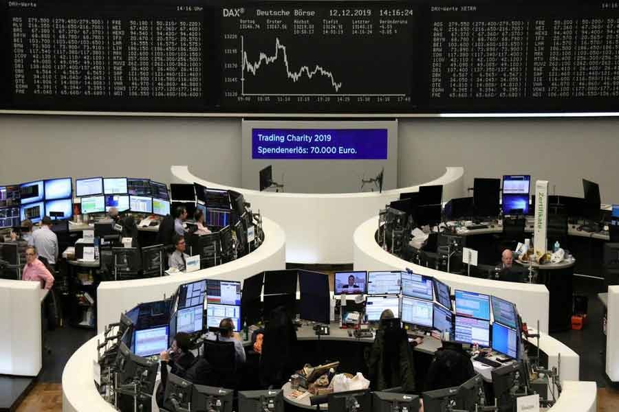 European shares hit record as trade, Brexit fog clears