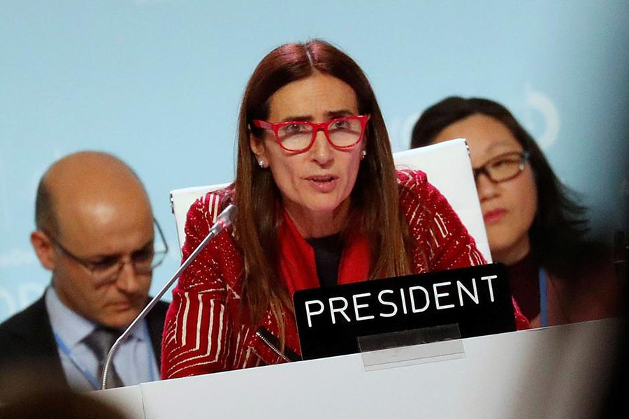 COP25 President Carolina Schmidt expressed disappointment that the UN climate meeting in Madrid couldn't resolve all the outstanding issues on the table.            —Photo: Reuters