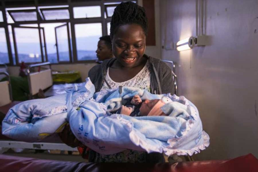 3,916 babies born on New Year's Day in Uganda