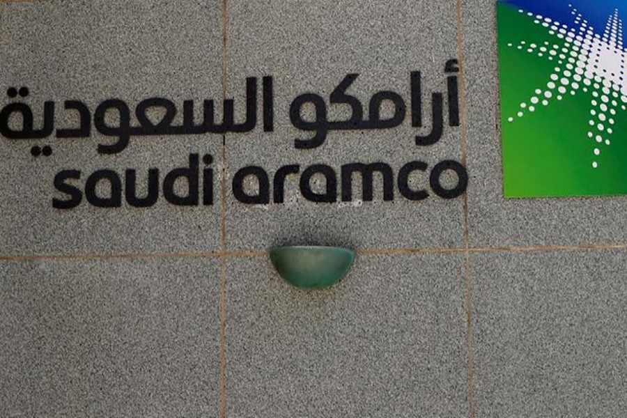 The logo of Saudi Aramco is seen at Aramco headquarters in Dhahran, Saudi Arabia on May 23, 2018 — Reuters/Files