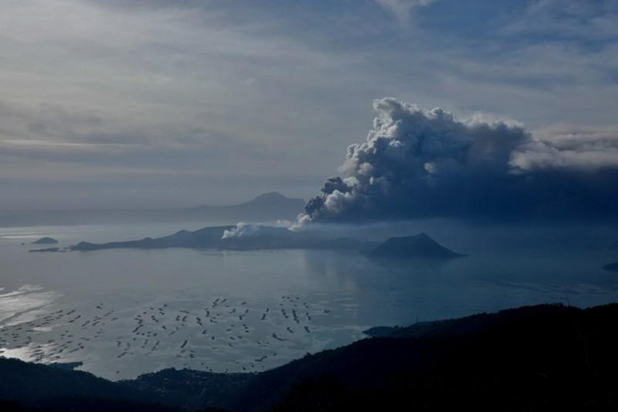The errupting Taal Volcano is seen from Tagaytay City, Philippines on 13th January, 2020 — Reuters photo