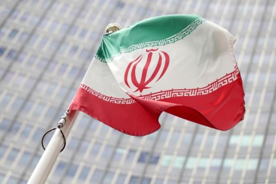 The Iranian flag flutters in front the International Atomic Energy Agency (IAEA) headquarters in Vienna, Austria, July 10, 2019. Reuters/File Photo