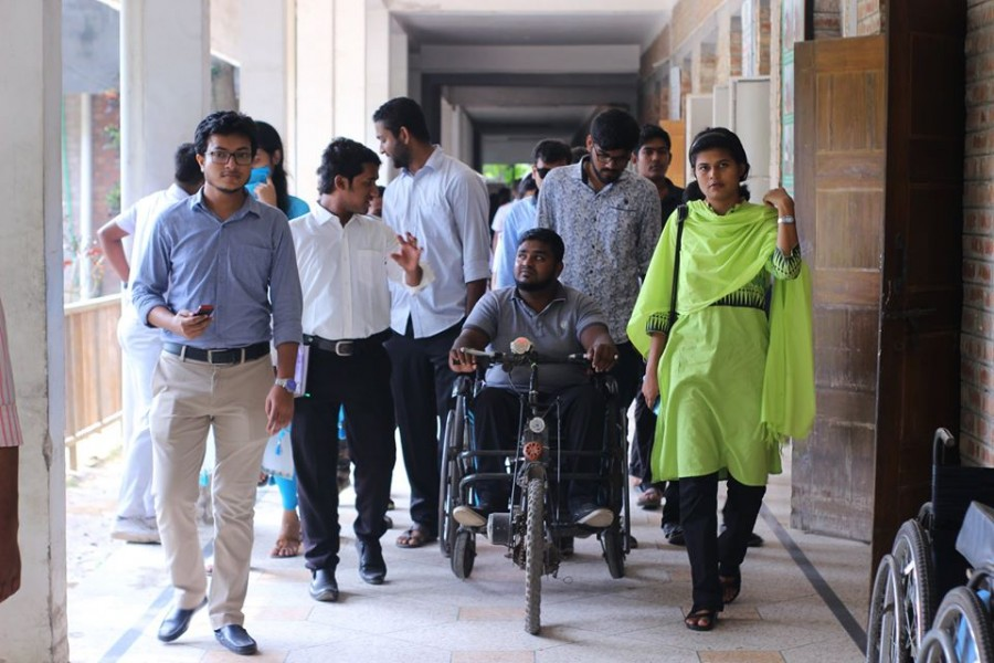 - Photo collected from Physically-challenged Development Foundation's  (PDF) Facebook page