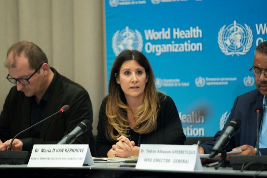 A news conference following the second meeting of the International Health Regulations (IHR) Emergency Committee for Pneumonia due to the Novel Coronavirus 2019-nCoV in Geneva, Switzerland on January 23, 2020 — WHO/Handout Via Reuters
