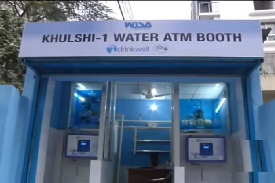 ATM booths for buying safe water