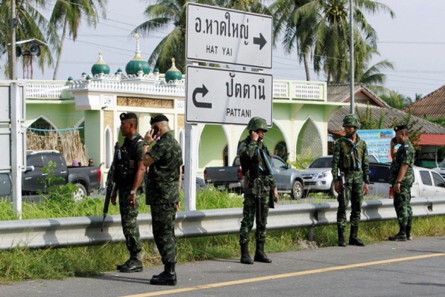 Representational Image: Security investigate the checkpoint that was attacked by insurgents at Pattani, southern Thailand, July 24, 2019. Reuters