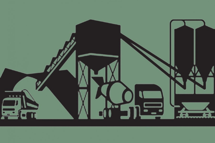 - Representational image of a cement factory