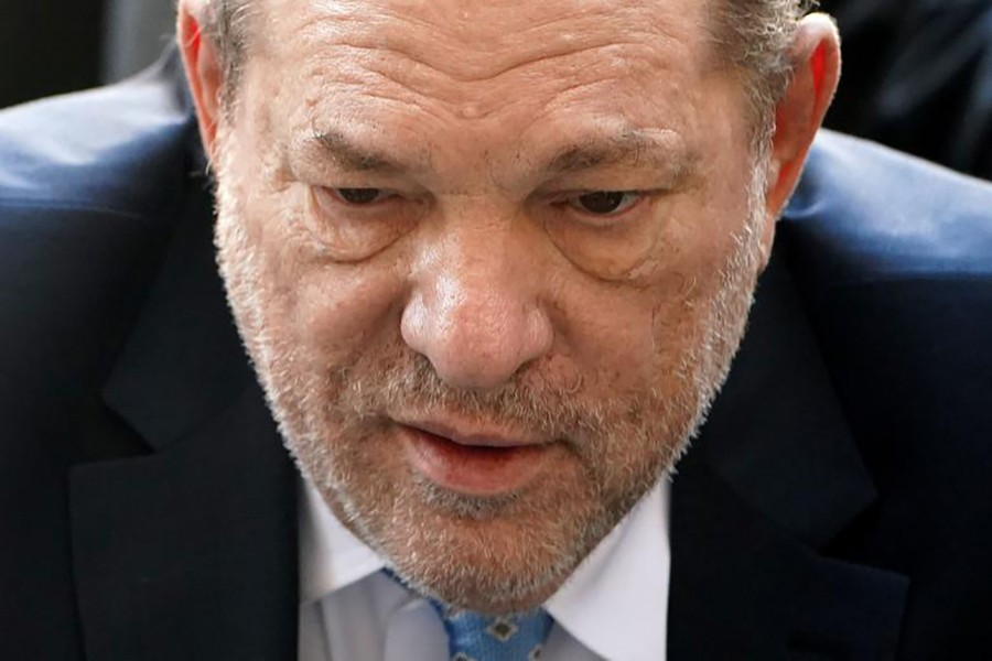 Harvey Weinstein arrives at the New York Criminal Court during his ongoing sexual assault trial in Manhattan, New York on February 24, 2020 — Reuters photo