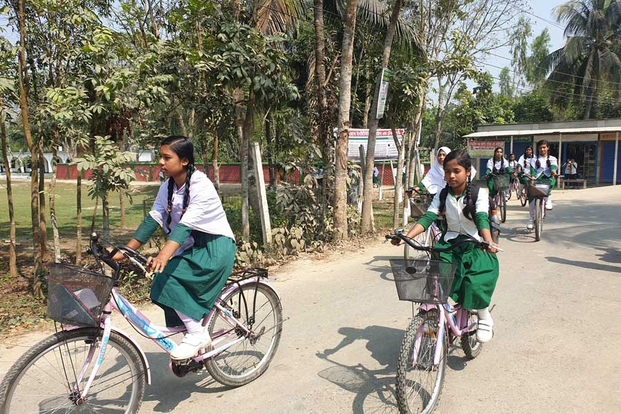 Girls overcome ordeals thru' bicycles