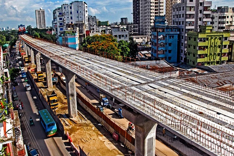 The question of height of the metro rail