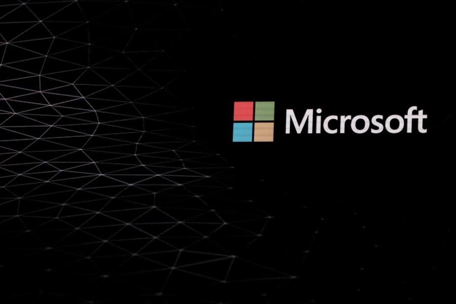 FILE PHOTO: The Microsoft logo is pictured ahead of the Mobile World Congress in Barcelona, Spain February 24, 2019. REUTERS/Sergio Perez/File Photo