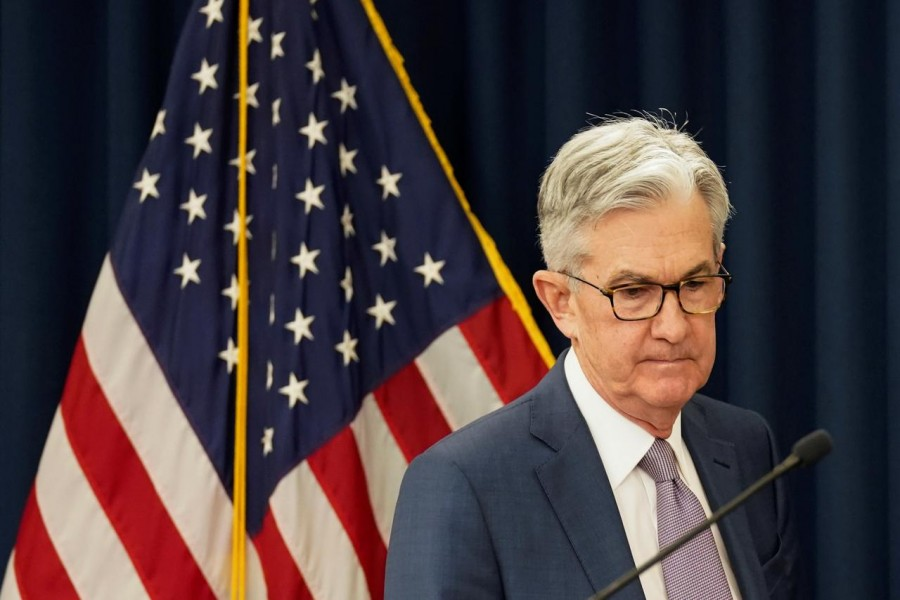 US Federal Reserve chairman Jerome Powell arrives to speak to reporters after the Federal Reserve cut interest rates in an emergency move designed to shield the world's largest economy from the impact of the coronavirus, in Washington, US, March 03, 2020. — Reuters