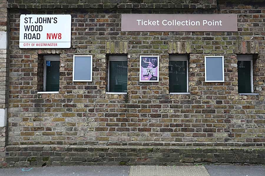 A ticket collection point outside Lord's Cricket Ground wears a deserted look— Internet