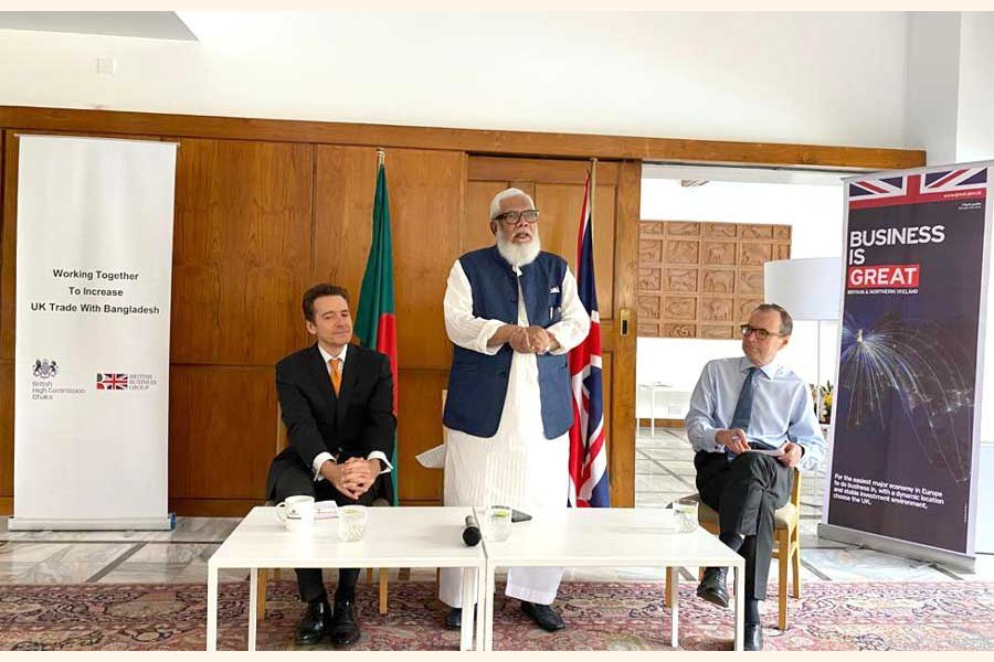 Salman F.Rahman, Private Industry & Investment Advisor to the Prime Minister. addressing a breakfast meeting to discuss trade between the UK and Bangladesh, arranged by British Business Group (BBG).