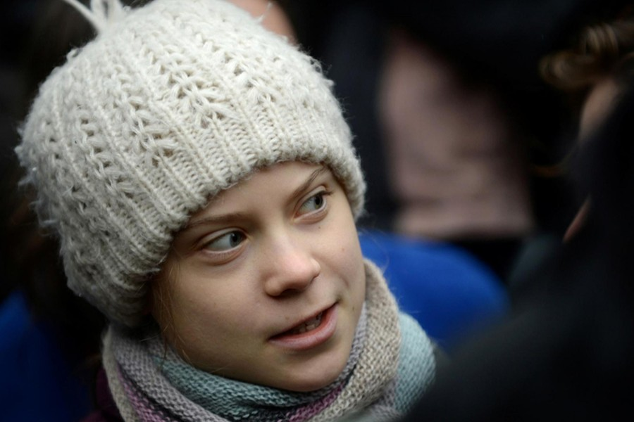 Swedish climate activist Greta Thunberg seen in this undated Reuters photo