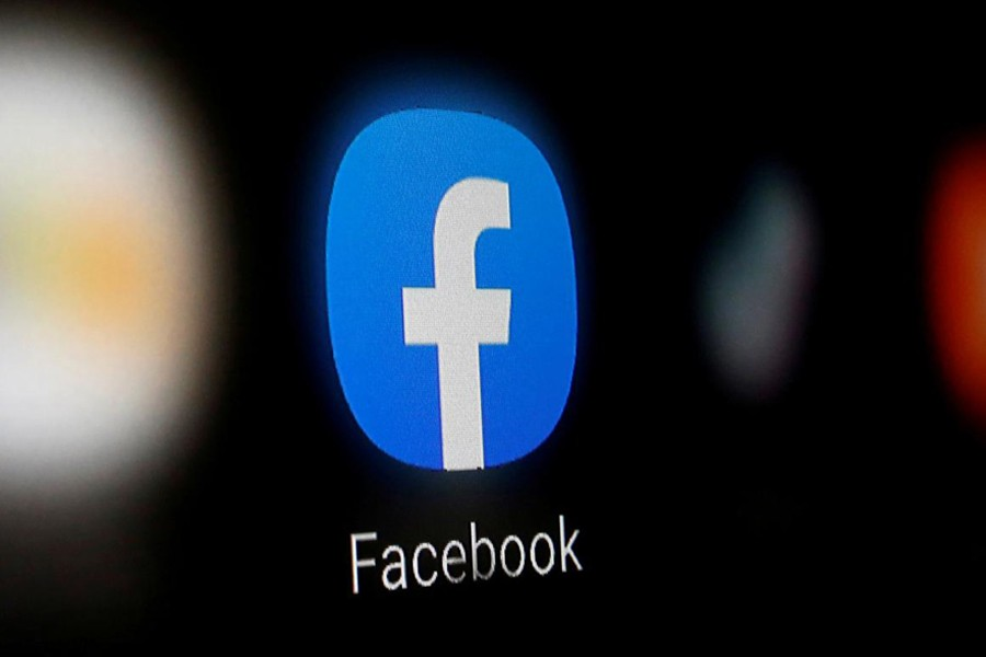 A Facebook logo is displayed on a smartphone in this illustration taken on January 6, 2020 — Reuters/Files