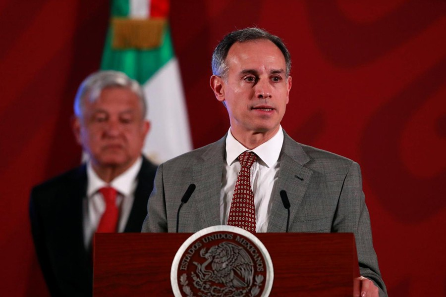 Hugo Lopez-Gatell Ramirez, Mexico's Undersecretary of Health Prevention and Promotion, attends a news conference with Mexico's President Andres Manuel Lopez Obrador, as the spread of the coronavirus disease (COVID-19) continues, at the National Palace in Mexico City, Mexico on March 17, 2020 — Reuters/Files