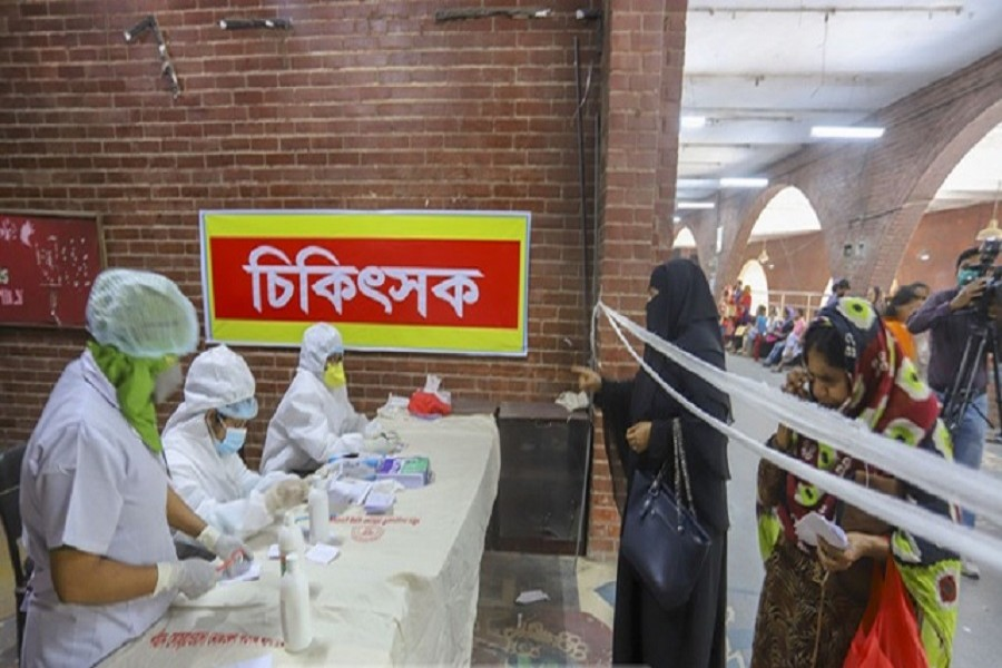 A view of Shaheed Suhrawardy Medical College & Hospital in the capital Dhaka. — bdnews24.com