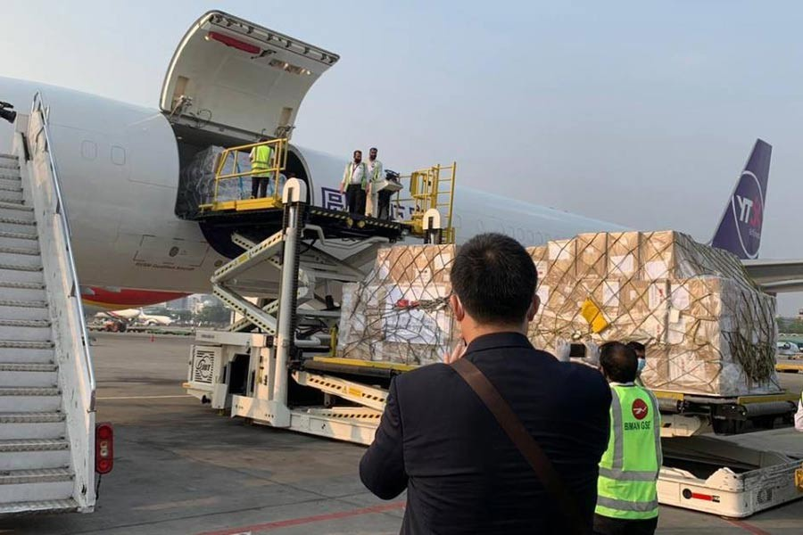 Second batch of medical logistics from China in city