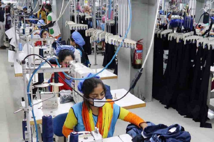 An inside view of a readymade garment factory. — UNB/Files