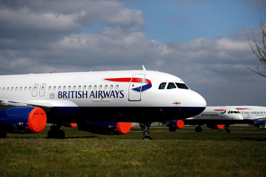 British Airways planes are seen parked at Bournemouth Airport, as the spread of the coronavirus disease (COVID-19) continues, Bournemouth, Britain on April 1, 2020 — Reuters photo