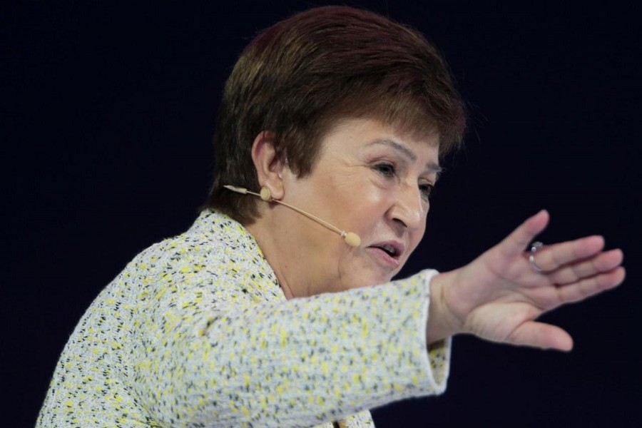 IMF Managing Director Kristalina Georgieva speaks at the Global Women's Forum in Dubai, United Arab Emirates, February 16, 2020. — Reuters/Files