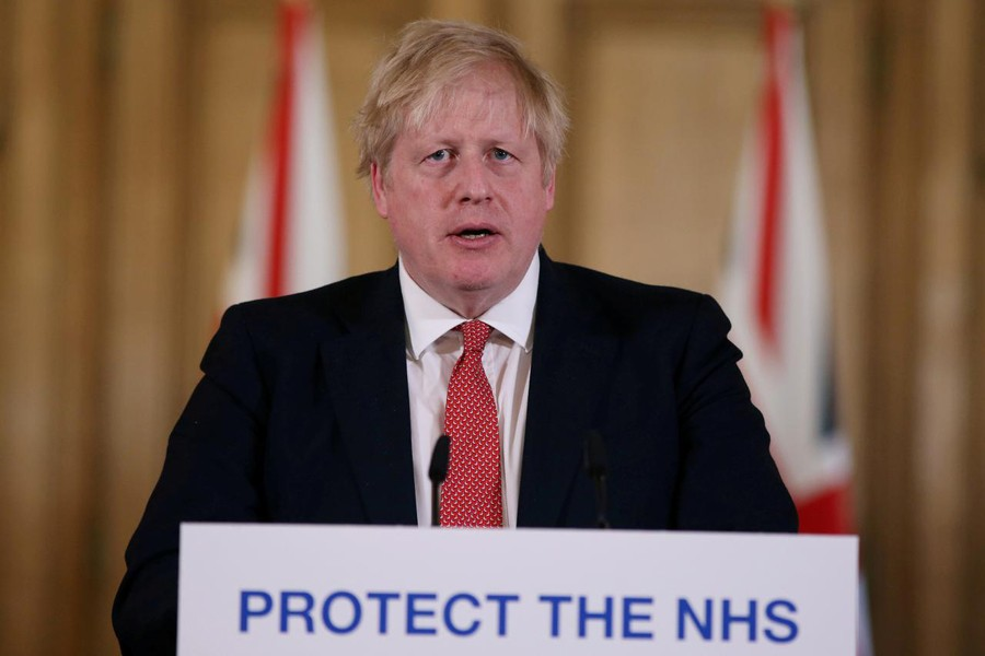British Prime Minister Boris Johnson speaks during a news conference on the ongoing situation with the coronavirus disease (COVID-19) in London, Britain on March 22, 2020 — Reuters/Files
