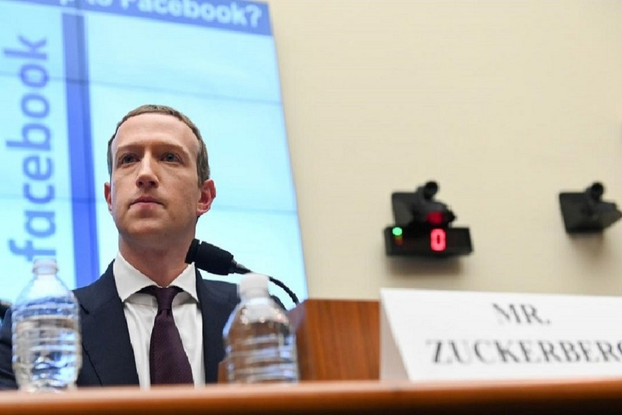 Facebook Chairman and CEO Mark Zuckerberg testifies at a House Financial Services Committee hearing in Washington, US, October 23, 2019. — Reuters