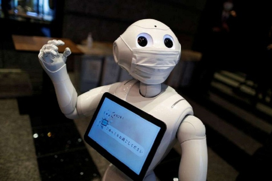 Coronavirus patients at Tokyo hotels get greetings from robot