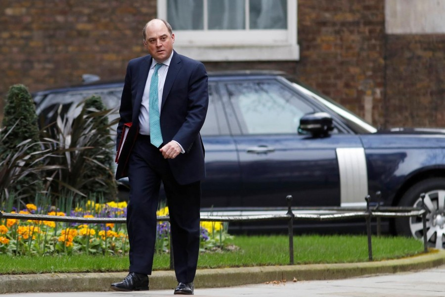Britain's Defence Secretary Ben Wallace arrives for a weekly cabinet meeting at Downing Street in London, Britain March 11, 2020. REUTERS/Peter Nicholls