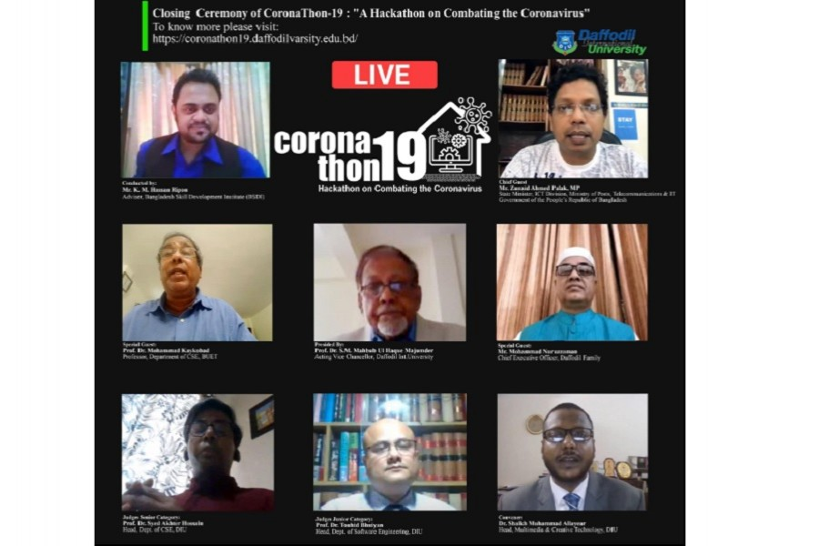 Online based CoronaThon-19 arranged by Daffodil International University concludes
