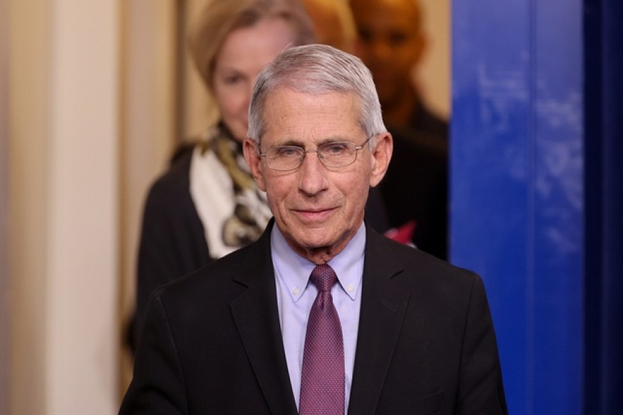 Dr Anthony Fauci of the National Institutes of Health arrives for the daily coronavirus task force briefing with President Donald Trump at the White House in Washington, US, April 22, 2020. – Reuters/Files