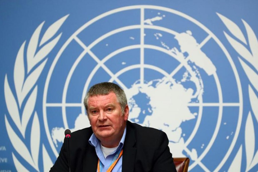 Mike Ryan, Executive Director of the World Health Organization (WHO) attends a news conference at the United Nations in Geneva, Switzerland on May 3, 2019 — Reuters/Files