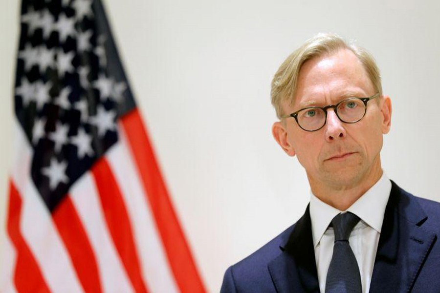 Brian Hook, US Special Representative for Iran, attends a news conference in London, Britain on June 28, 2019 — Reuters/Files