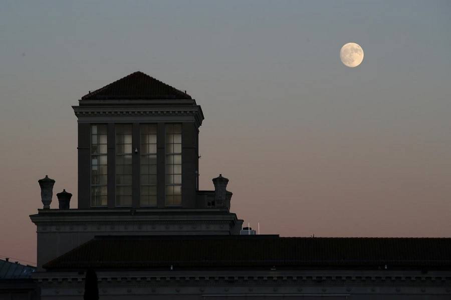 The moon rises over the WTO headquarters in Geneva, Switzerland, December 10, 2019. — Reuters/Files