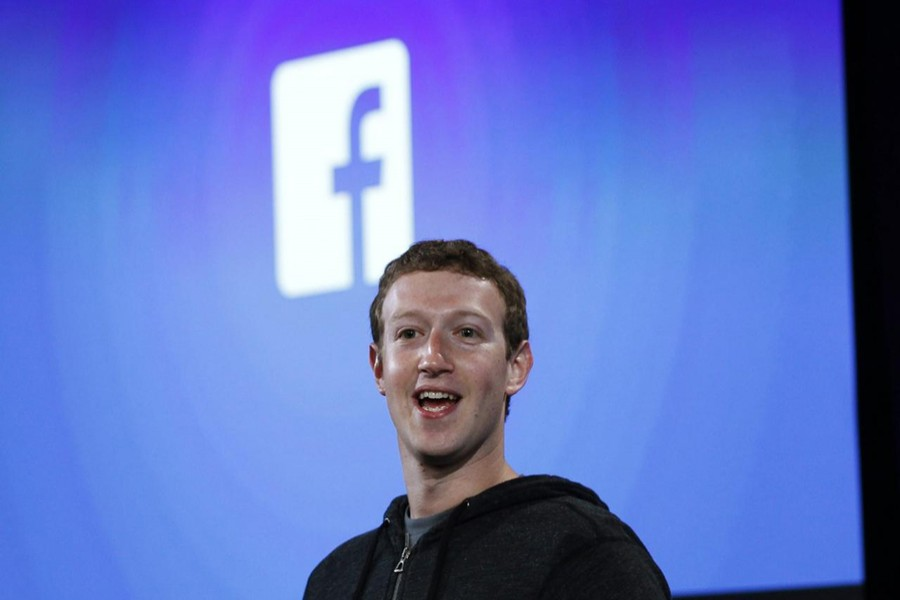 Facebook's co-founder and chief executive speaks during a press event in Menlo Park, California — Reuters/Files